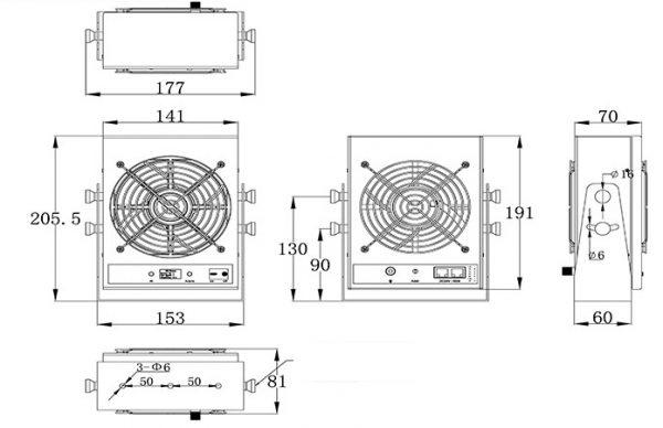 Jonizator stanowiskowy TS-1802JN, ESD, Zabezpieczenia Antystatyczne, Jonizator powietrza