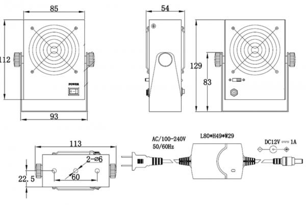 Jonizator stanowiskowy TS-2453JN