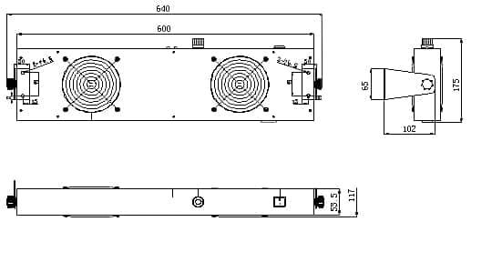 Jonizator stanowiskowy, dwu wiatrakowy TS-2452-60JN2