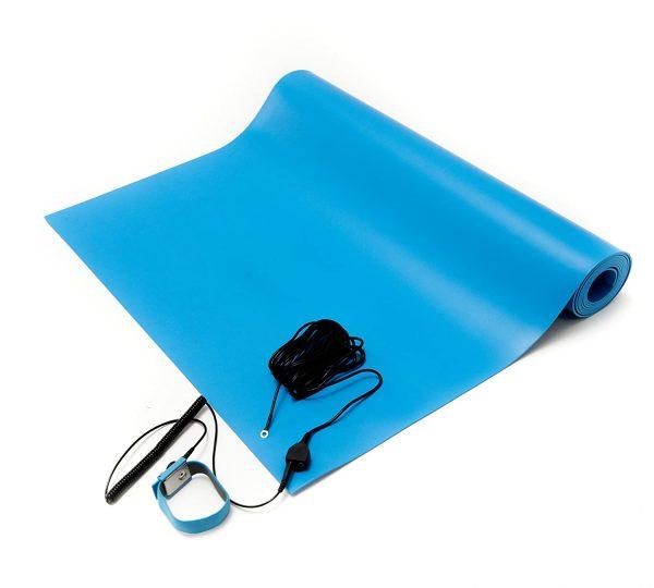 mata stołowa antystatyczna mata esd toolstatic 1 niebieska