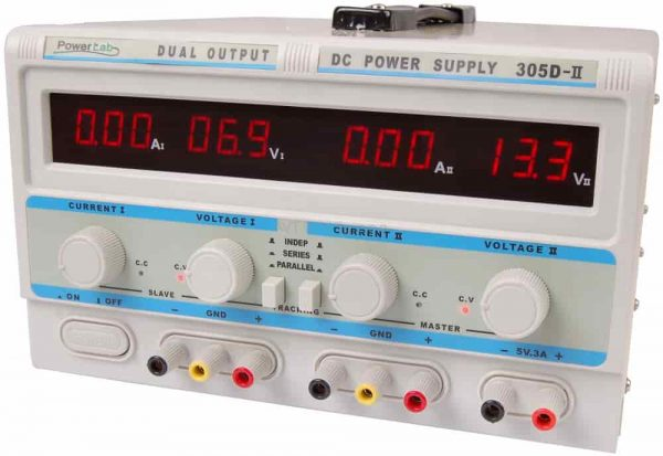 Zasilacz laboratoryjny 30V/5A DC , 30V/2A 6,3V/6A AC LED PowerLab