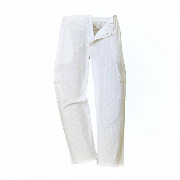 spodnie antystatyczne esd biale