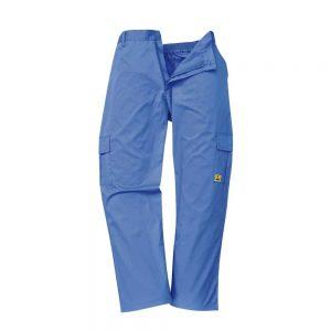 Spodnie antystatyczne niebieskie esd